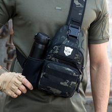 胸包男士单肩斜挎包新款户外路亚迷id13背包钢am包男弹弓包