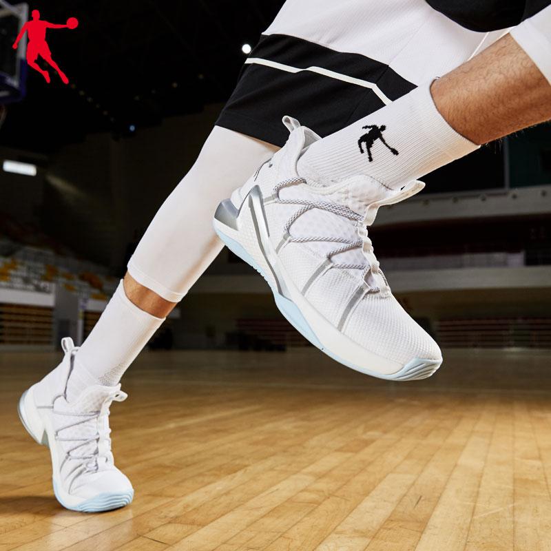 乔丹篮球鞋男高帮2019新款篮球鞋男乔丹运动鞋男减震战靴学生球鞋