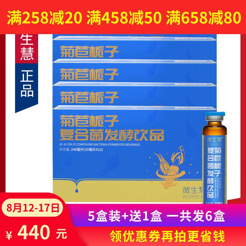 5盒装+送1盒微生慧菊苣栀子复合菌发酵饮品降益生菌酸酵液酵素