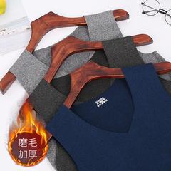 无痕秋冬季男士保暖背心男加绒加厚修身发热大码打底衫内衣马甲潮价格比较
