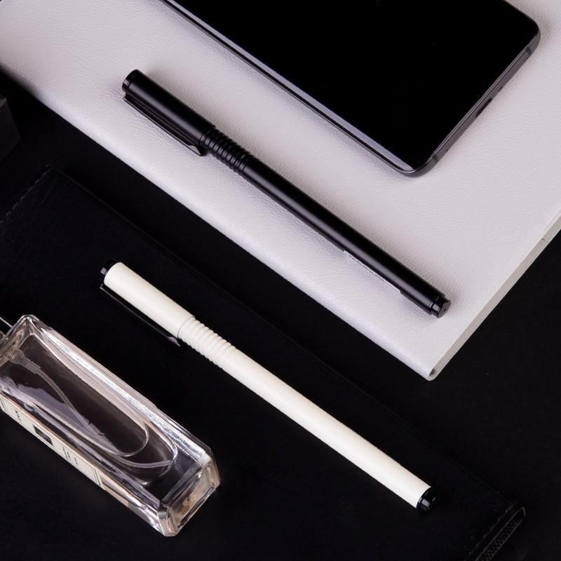 晨光文具金属笔杆中性笔 学生用 会议高档商务水笔简约黑色签字笔