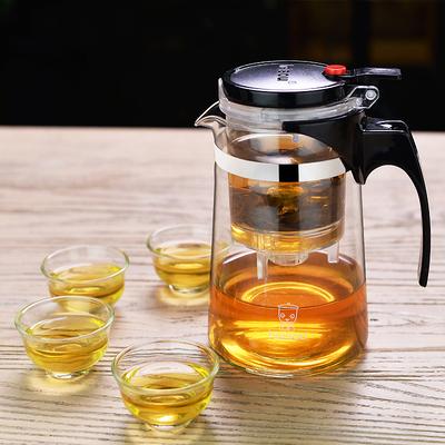 飘逸杯防爆全拆洗功夫泡茶壶家用冲茶器过滤内胆玻璃茶壶套装茶具