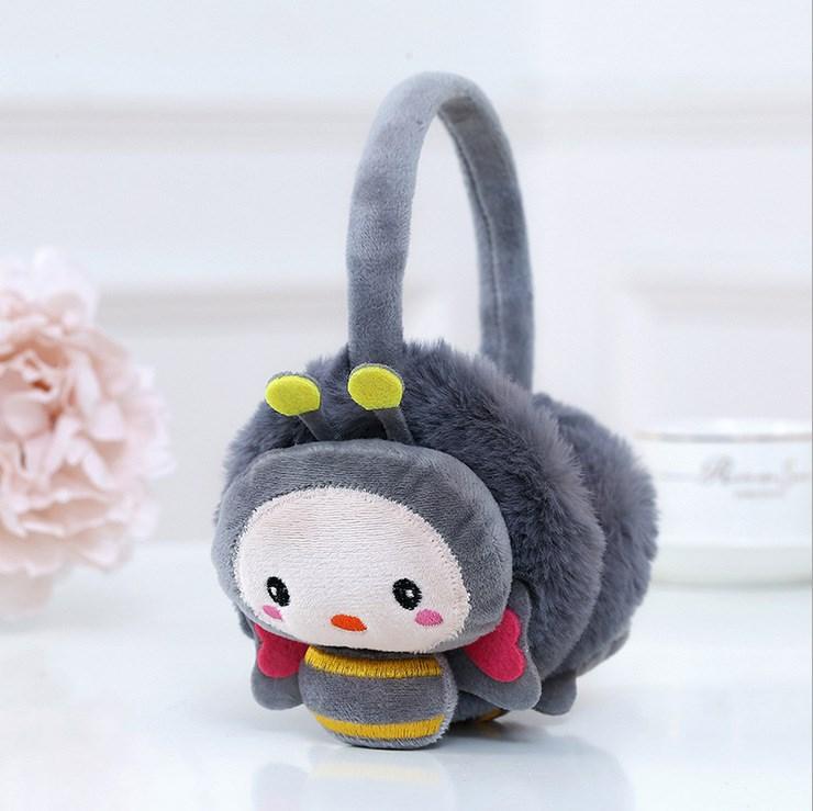 韩版学生耳罩卡通蜜蜂女童耳包保暖护耳套男童耳捂冬季儿童可调节