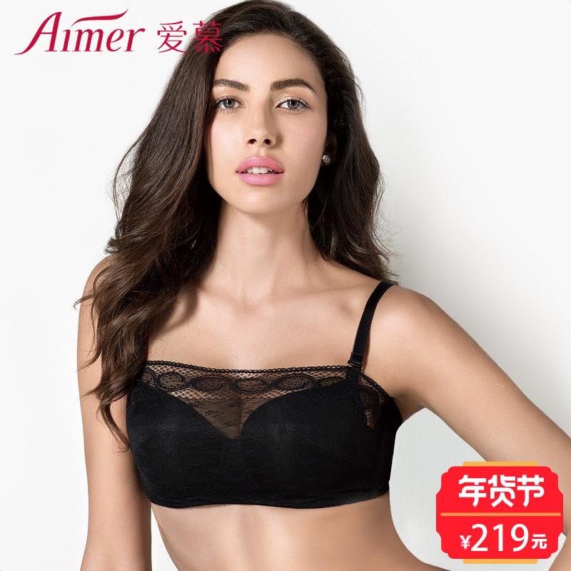 爱慕新品内衣云海3/4薄无纺布抹胸文胸AM15JR1