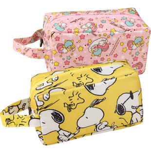 粉红独角兽可爱卡通大容量环保化妆包手提旅行便携防水洗漱收纳包图片