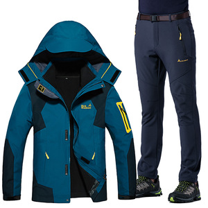 Outdoor jacket suit women's clothes two-piece fleece removable three-in-one autumn and winter mountaineering ski clothing