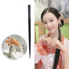 记川国风 原创日常宋制出街发型搭配套餐珍珠梅琉璃发梳小直发片