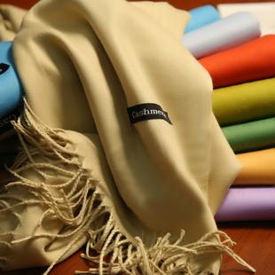 新款长款大围巾100%柔软长款简约围脖毛线保暖加厚