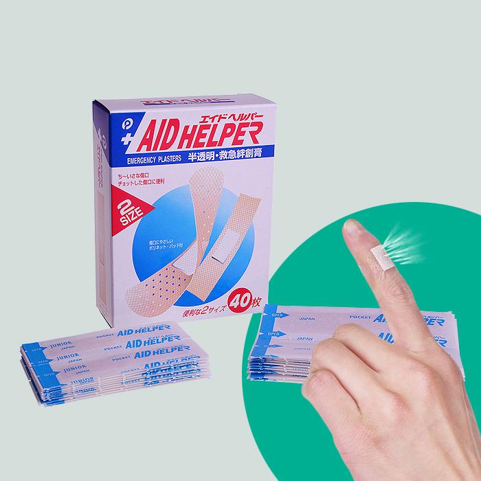 日本进口创口贴 救急创口贴 止血贴防水透气创可贴OK绷 大小贴装