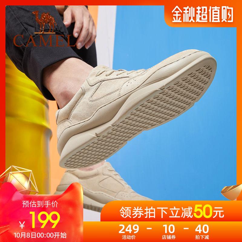 骆驼工装鞋子男潮鞋2019秋季新款百搭板鞋运动休闲男鞋英伦马丁鞋