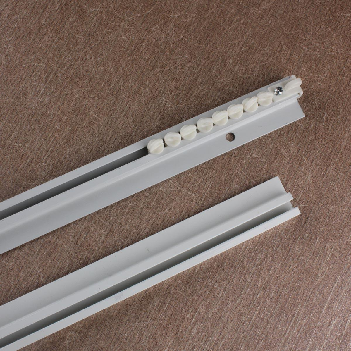 0.8cm超薄窗帘轨道内开窗飘窗直轨顶装单轨小轨道免打孔滑道滑轨
