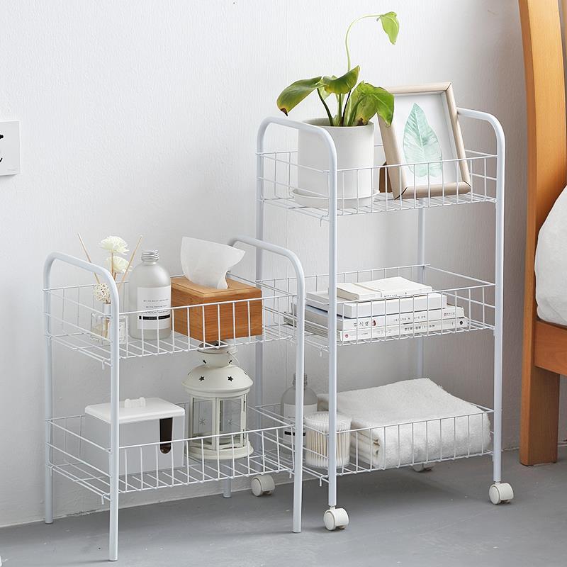 可移动置物架落地家用卧室厨房客厅美容院收纳架宿舍神器小手推车