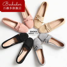 Bechedor2018 spring new Korean style casual square head, middle heel, thick heel, high heels, lazy