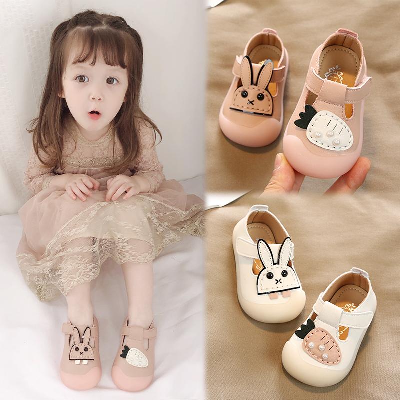 2019新款春秋季女宝宝鞋子0一1-2-3岁婴儿学步鞋软底小童公主单鞋