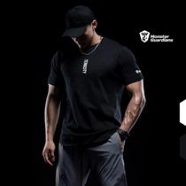 Monster Guardians运动短袖男健身训练上衣修身国潮基础t恤