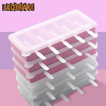 雪糕硅胶模带盖冷饮模具套装ab10冰棍家uo冻冰淇淋磨具冰棒