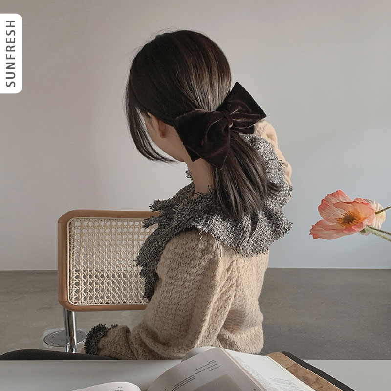 sunfresh韩国代购东大门女装2020冬季新款V领复古衬衣衬衫MO-DE13