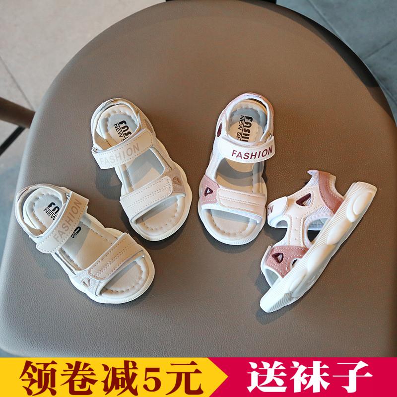 女童凉鞋2019新款时尚儿童鞋子夏季小女孩凉鞋 公主软底小熊鞋