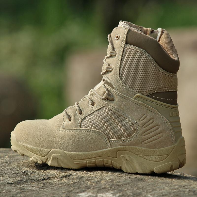 秋季特种兵作战靴男高帮战术靴军靴耐磨减震陆战靴黑色保安作训鞋