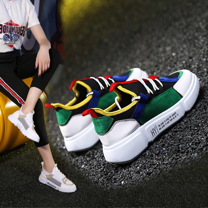 情侣鞋夏季新款百搭单鞋子原宿风休闲鞋跑步鞋网鞋透气运动鞋女