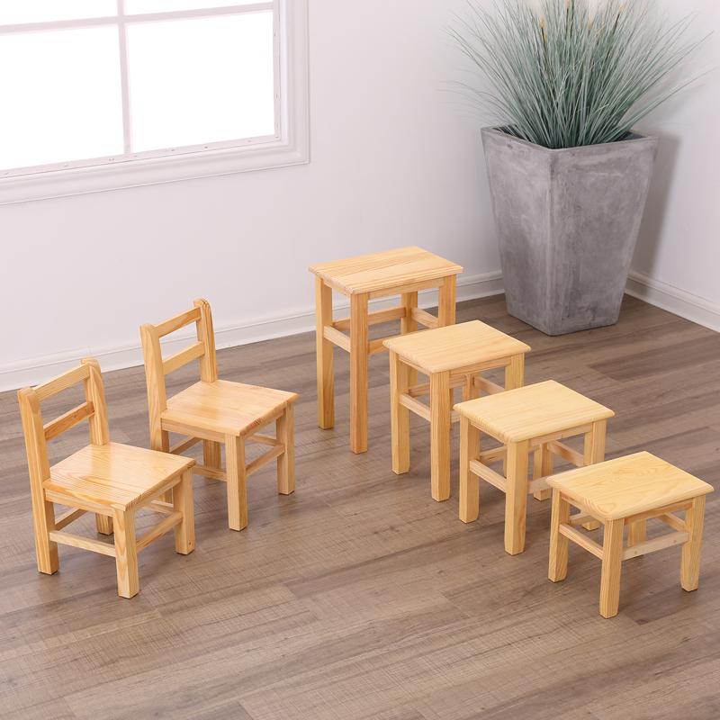 小木凳家用 板凳木质木凳子凳子实木矮凳木头方凳 儿童靠背椅子
