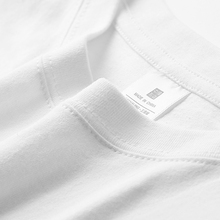 纯白色半袖打底衫潮圆领短袖t恤男女宽ba15式港风is纯棉上衣服