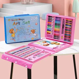 208件水彩笔套装美术画笔3绘画套装儿童专业绘画学习儿童礼物礼品