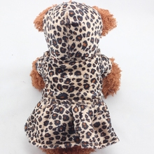 Puppy Hoodies Both Sides Wear Dog Clothes Pets Dogs Leopard