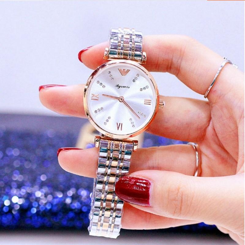 正品女士情侣手表一对简约大气女表时尚潮流钢带超薄防水石英表