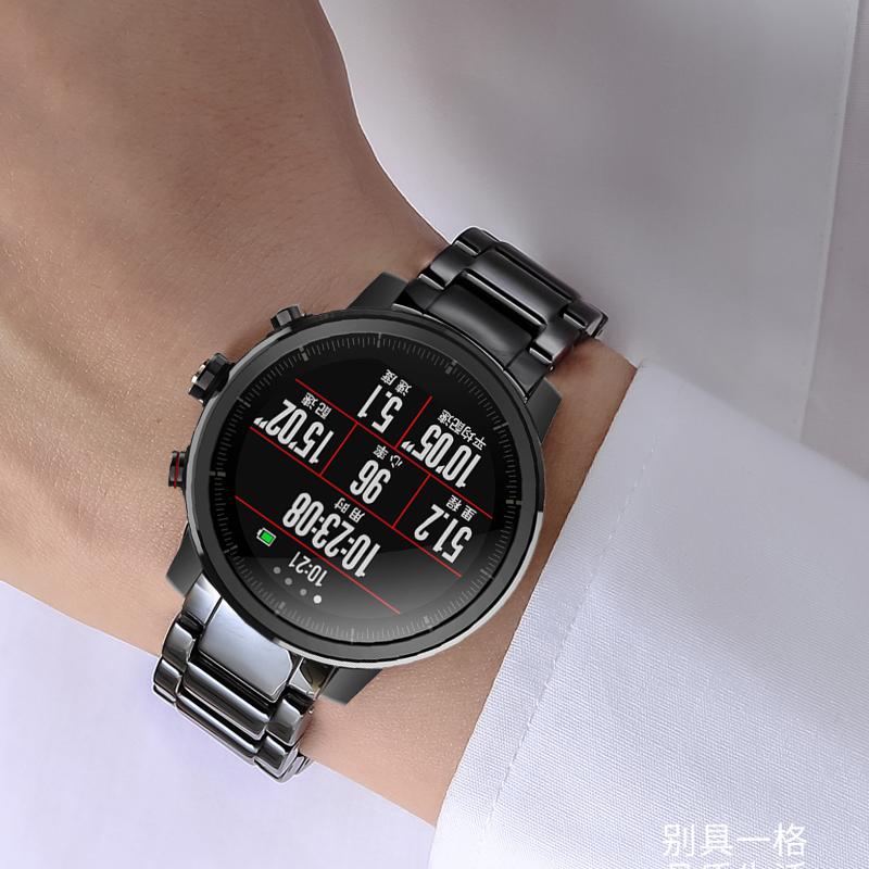 男女陶瓷手表带适配小米2华米AMAZFIT智能运动手表米动青春版表链