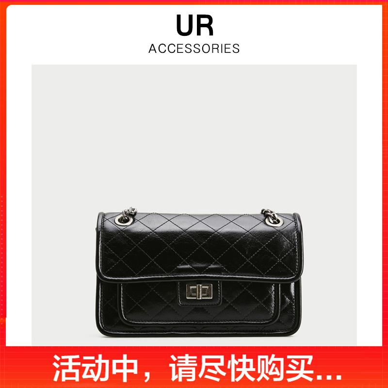 UR2020春夏新品官方正品女包时尚车线流浪包大容量链条斜挎包包女