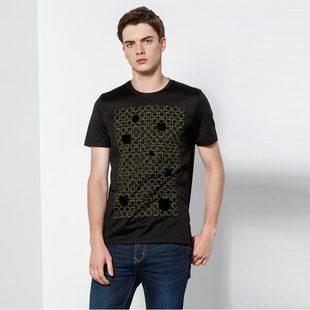 卡奴迪路男装夏装新款中年男士t恤短袖纯棉透气时尚休闲上衣男士