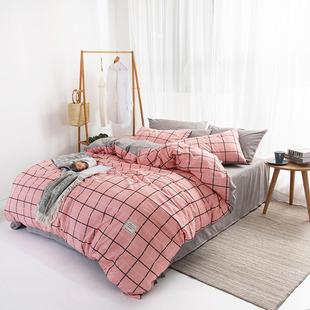 床包四件套床笠4件组床单被套纯棉全棉1.5m1.8米床套席梦思床垫套