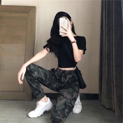 学生新款爵士舞服装女韩版露脐2019成人表演练功现代舞蹈ds演出服