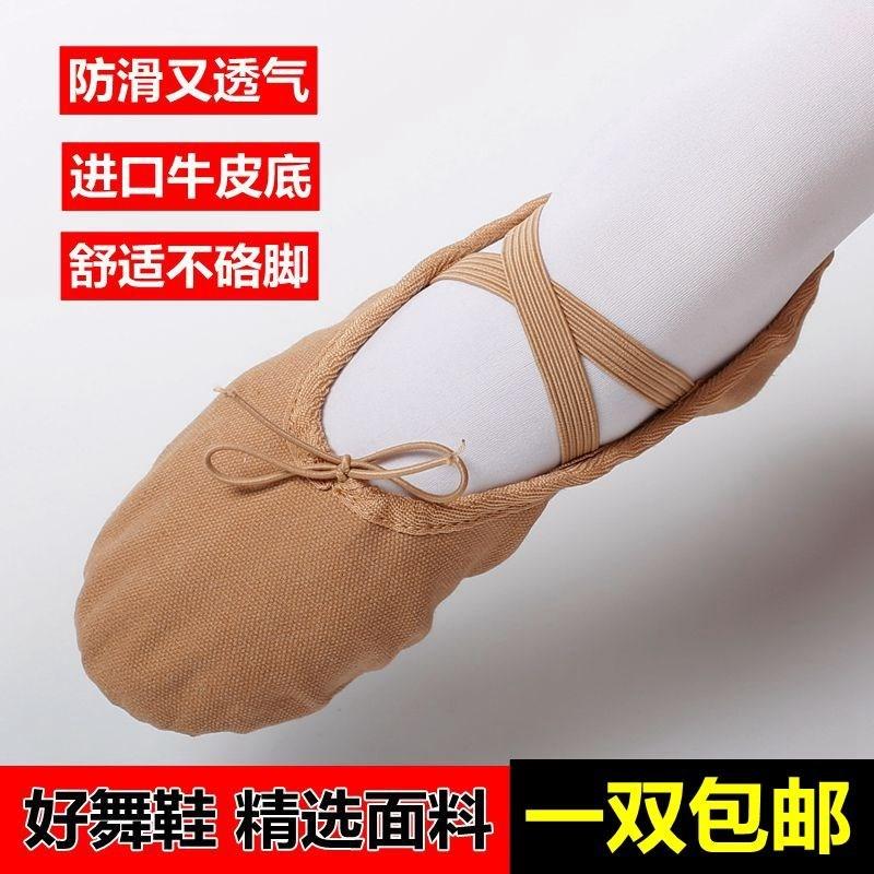 儿童猫爪鞋成人芭蕾舞蹈鞋驼色瑜伽鞋女童形体肉色跳舞软底练功鞋