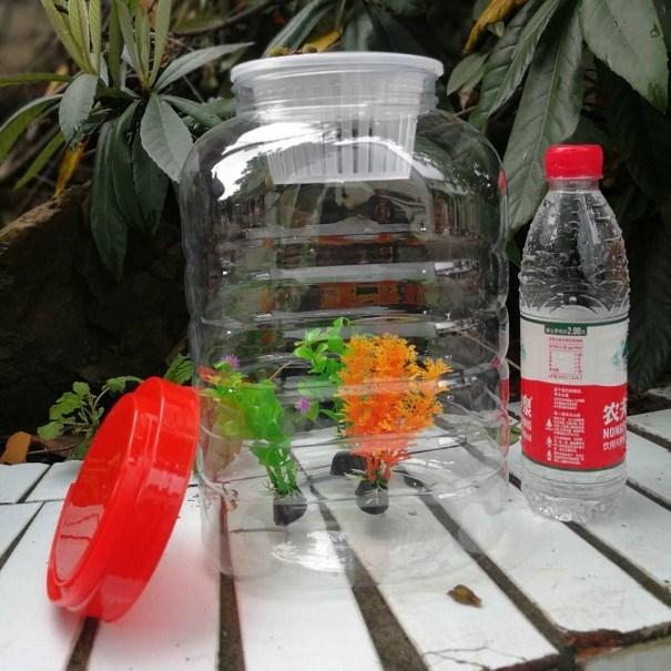 自动排气密封塑料瓶自制酵素桶泡菜酿酒环保大容量花生瓜子罐鱼缸