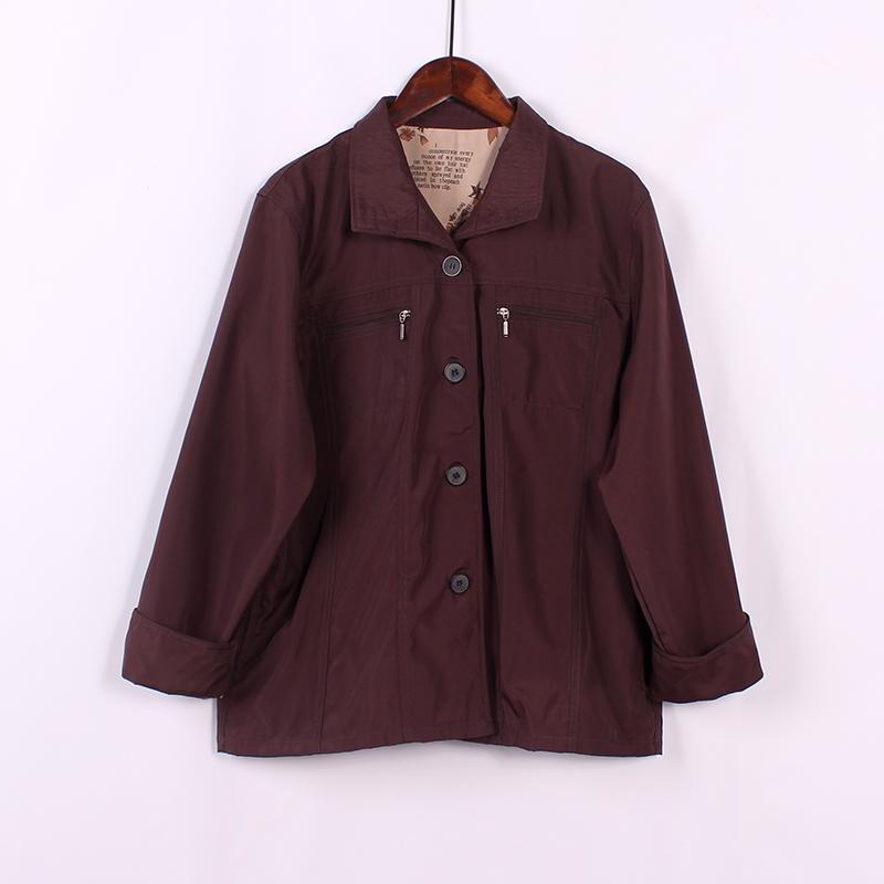 2018年早春季款女士风衣短款韩版宽松舒适透气时尚薄款休闲外套