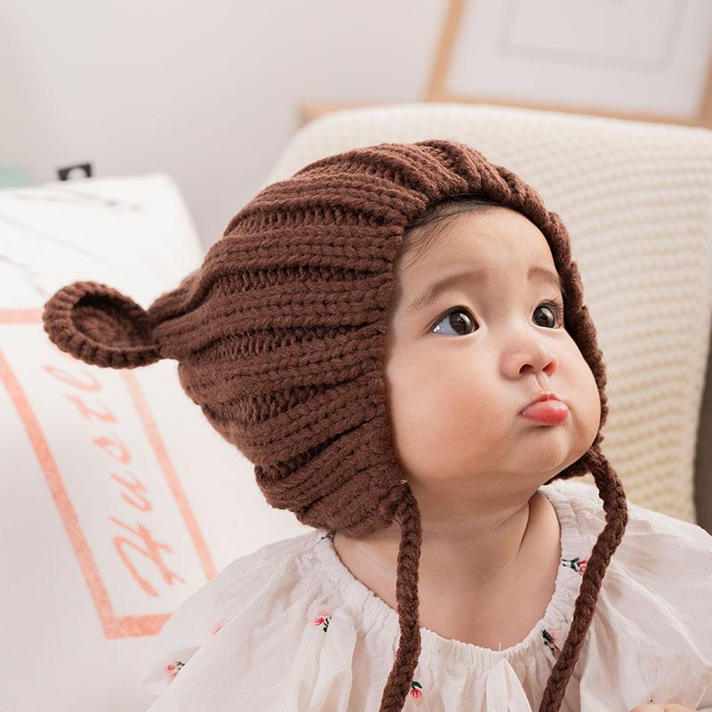 网红新生婴儿帽子秋冬季可爱超萌女宝宝帽子婴幼儿童帽子小孩男童