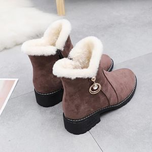 Frosted short boots women's boots autumn and winter Martin boots increase women's shoes thick bottom wedge heel plus velvet cotton boots 2019 new wave