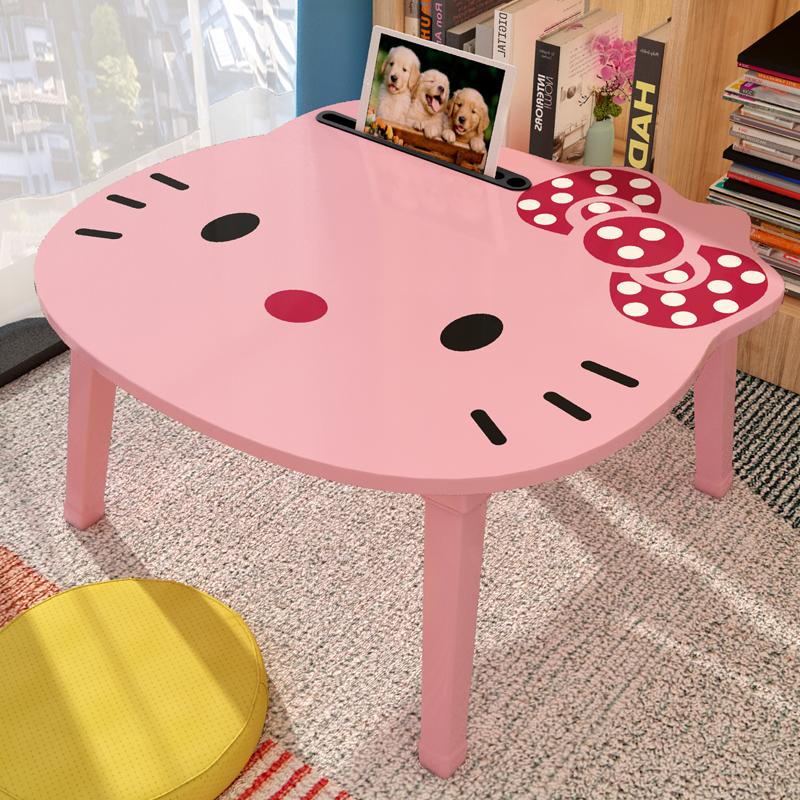 小桌子可爱床上宿舍折叠卧室坐地少女书桌寝室电脑床桌用懒人桌家