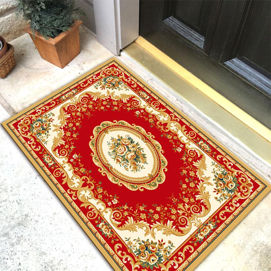 中式地毯客厅玄关门厅进门地垫入户门垫浴室厨房卧室门口垫定制