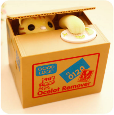 偷钱猫储蓄罐皮卡丘存钱罐儿童生日礼物创意网红款储钱箱女生可爱