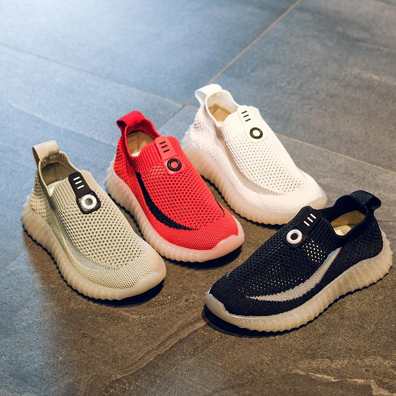 童鞋儿童网鞋透气网面男童鞋子夏季一脚蹬2019新款夏款男孩运动鞋