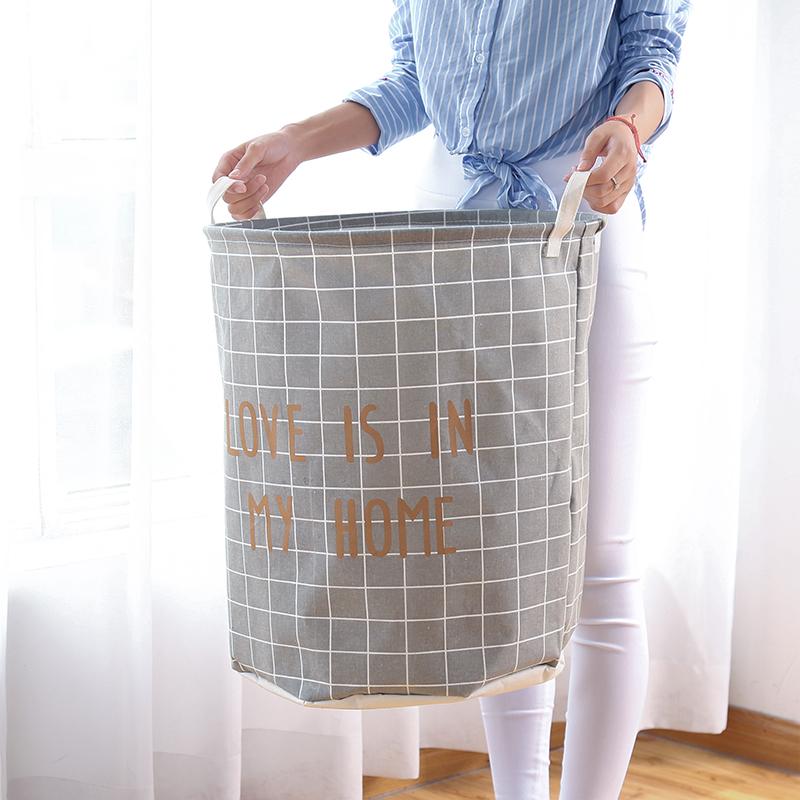 家用布艺脏衣篓收纳桶洗衣篮脏衣篮折叠玩具衣物放脏衣服的收纳筐