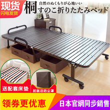 单的双的竹床实木折叠床午睡ha10简易办ai护床硬板床