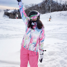 Female Suit of Snowfly Passenger's Double-board and Single-board Skiing Suit Korean Wind-proof, Waterproof, Thickening and Warming Outdoor Equipment in Winter