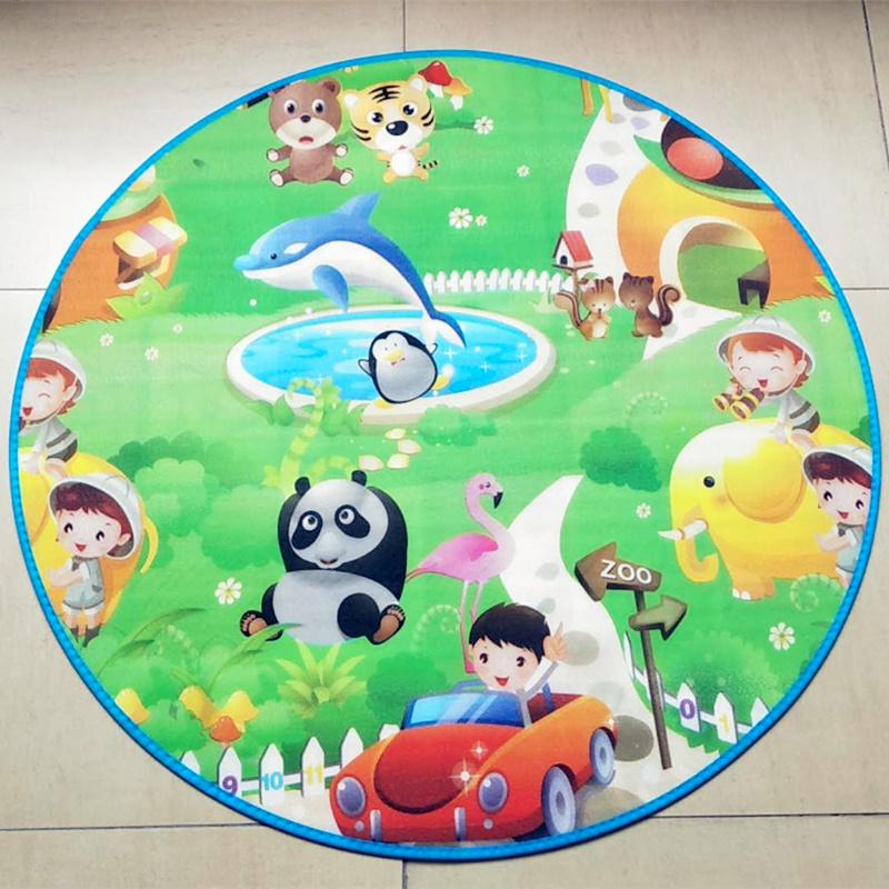 儿童帐篷专用圆形地毯防潮卡通圆垫游戏玩具屋宝宝爬行垫圆爬爬垫