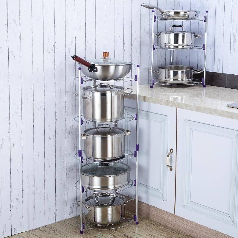 高压锅层架家用放锅架隔热架储物收纳调料盆架小家电厨房电器储物