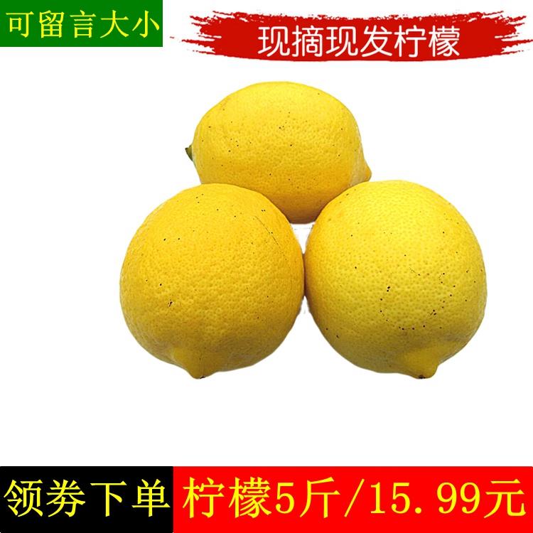 新鲜柠檬5斤四川安岳檸檬二三级柠萌整箱非青柠檬 黄柠檬新鲜水果