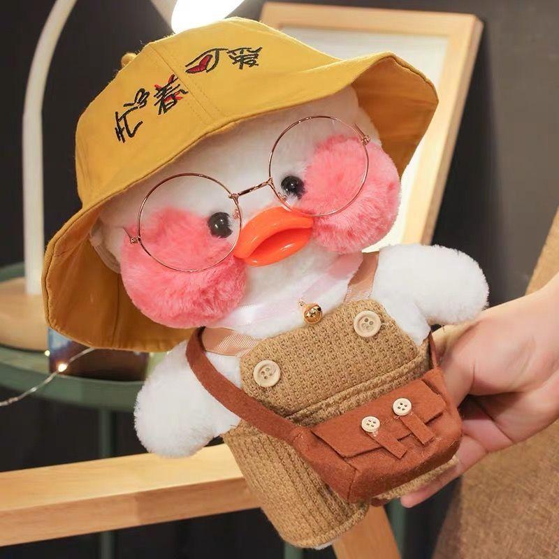 网红玻尿酸鸭小黄鸭子ins公仔毛绒玩具玩偶少女心生日礼物女娃娃